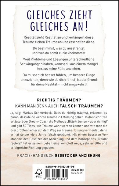 Buchcover Rückseite | Bitte träumen – Markus Schmerbeck